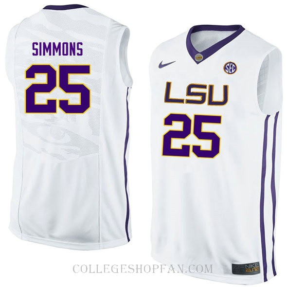 Ben Simmons Lsu Tigers #25 Limited College Basketball Womens Jersey White