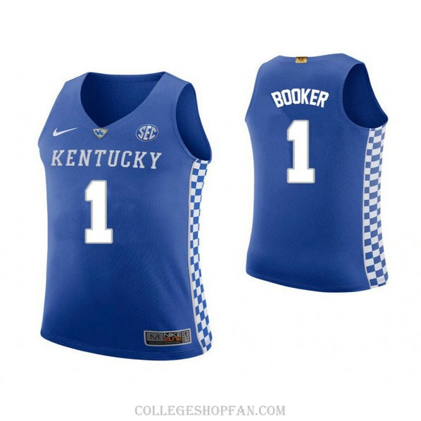 Devin Booker Kentucky Wildcats #1 Swingman College Basketball Youth Jersey Blue