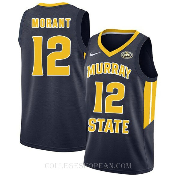 Ja Morant Murray State Racers #12 Authentic College Basketball Womens Jersey Navy