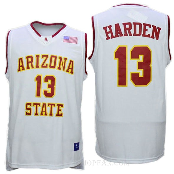 James Harden Arizona State Sun Devils #13 Authentic College Basketball Womens Jersey White