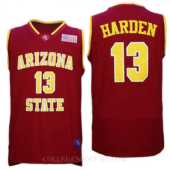 James Harden Arizona State Sun Devils #13 Limited College Basketball Mens Jersey Red