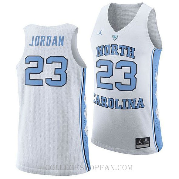 Jordan Brand Michael Jordan North Carolina Tar Heels #23 Authentic College Basketball Youth Jersey White