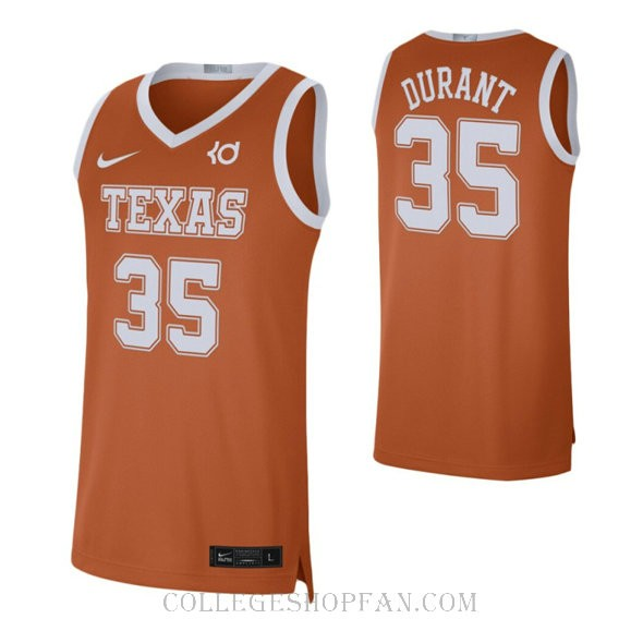 Kevin Durant Texas Longhorns #35 Authentic College Basketball Womens Jersey Orange