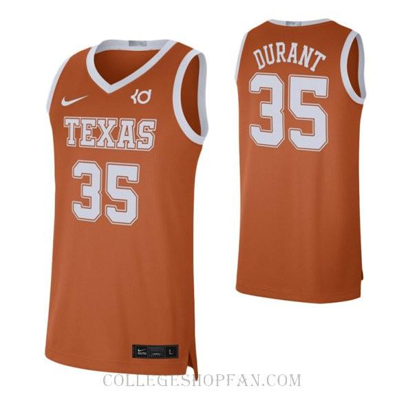 Kevin Durant Texas Longhorns #35 Limited College Basketball Mens Jersey Orange