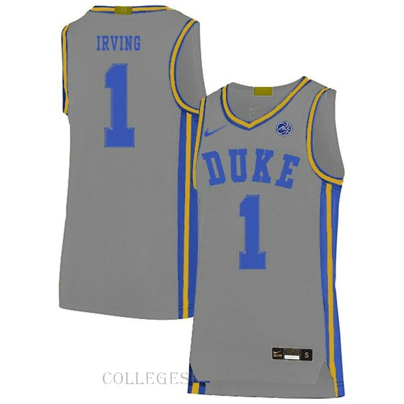 Kyrie Irving Duke Blue Devils #1 Swingman College Basketball Mens Jersey Grey