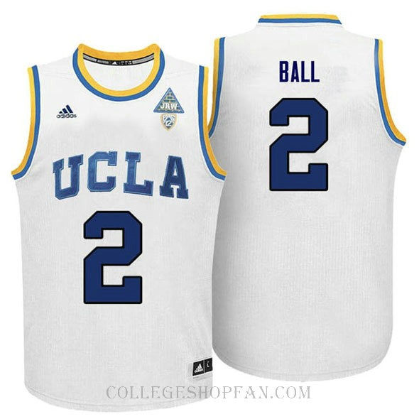 Lonzo Ball Ucla Bruins #2 Limited Adidas College Basketball Mens Jersey White
