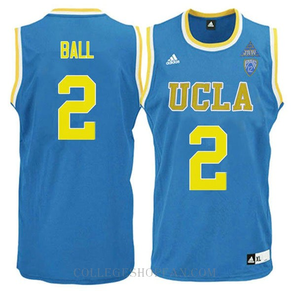 Lonzo Ball Ucla Bruins #2 Swingman Adidas College Basketball Womens Jersey Blue