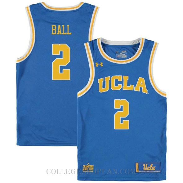 Lonzo Ball Ucla Bruins #2 Swingman College Basketball Mens Jersey Blue