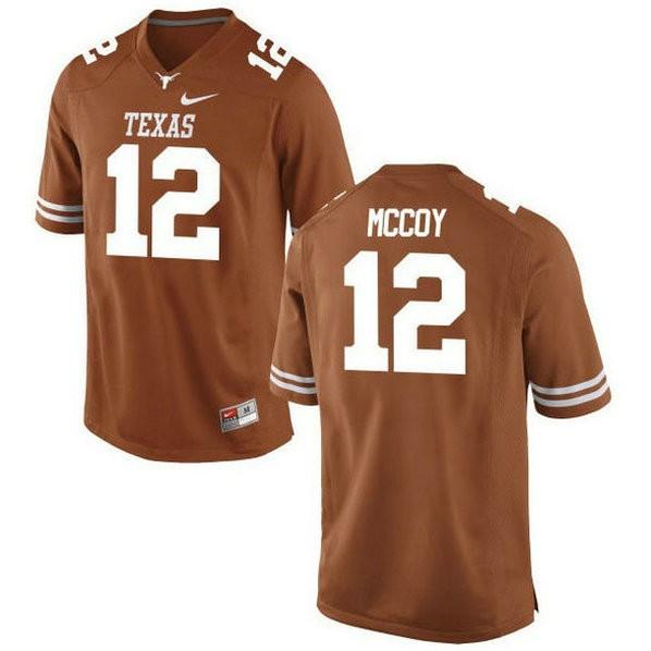 Mens Colt Mccoy Texas Longhorns #12 Game Orange Colleage Football Jersey 102