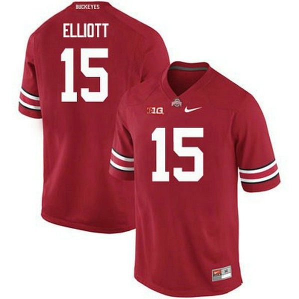 Mens Ezekiel Elliott Ohio State Buckeyes #15 Limited Red College Football Jersey 102