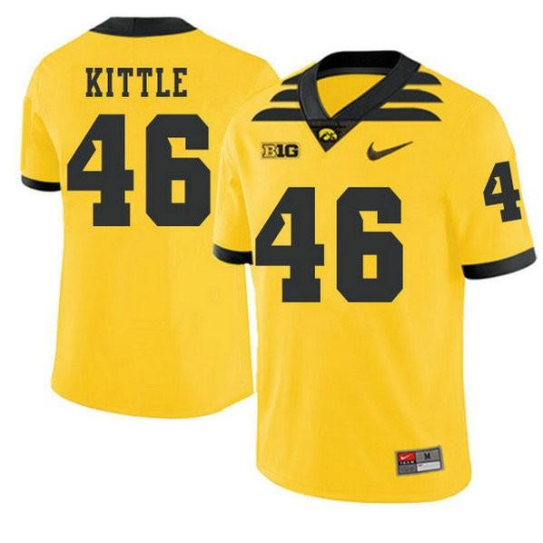Mens George Kittle Iowa Hawkeyes #46 Game Gold Alternate College Football Jersey 102