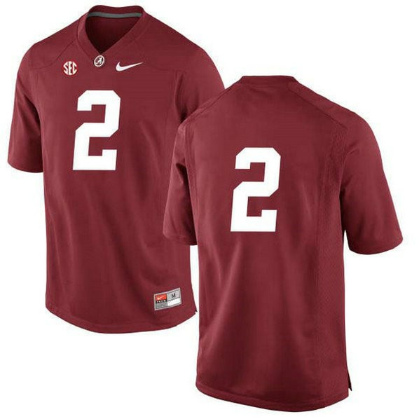 Mens Jalen Hurts Alabama Crimson Tide #2 Game Red Colleage Football Jersey No Name 102