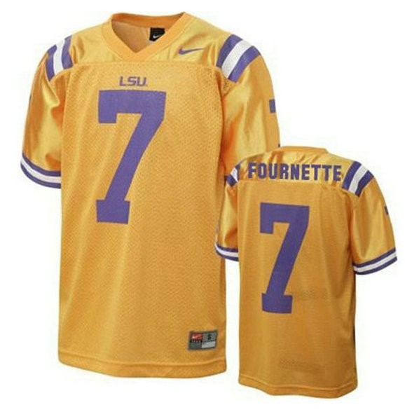 Mens Leonard Fournette Lsu Tigers #7 Game Gold College Football Jersey 102