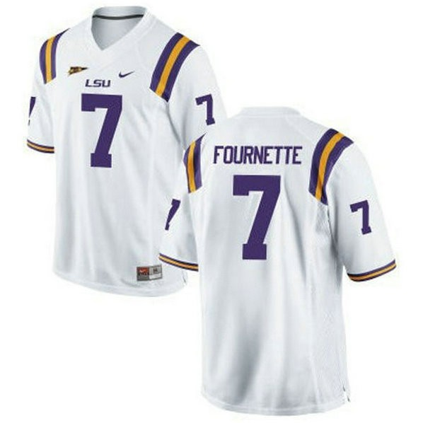 Mens Leonard Fournette Lsu Tigers #7 Game White College Football Jersey 102