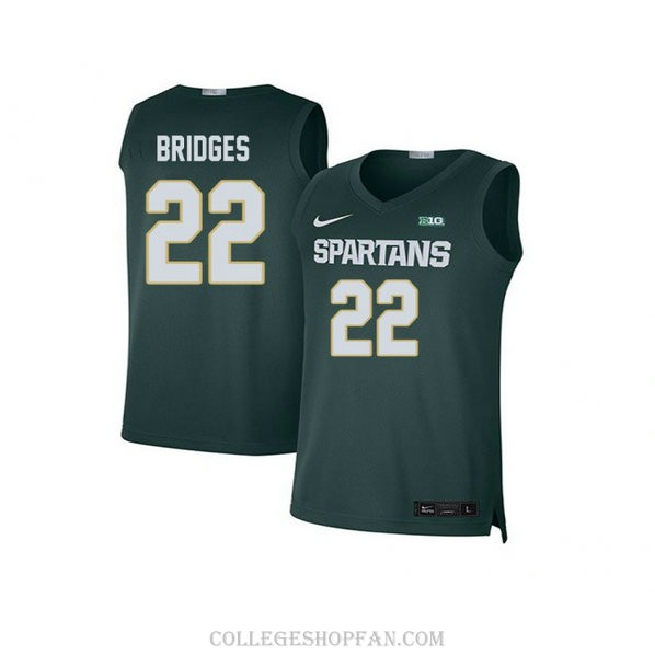 Mens Miles Bridges Michigan State Spartans #33 Limited Blue Big College Basketball Jersey