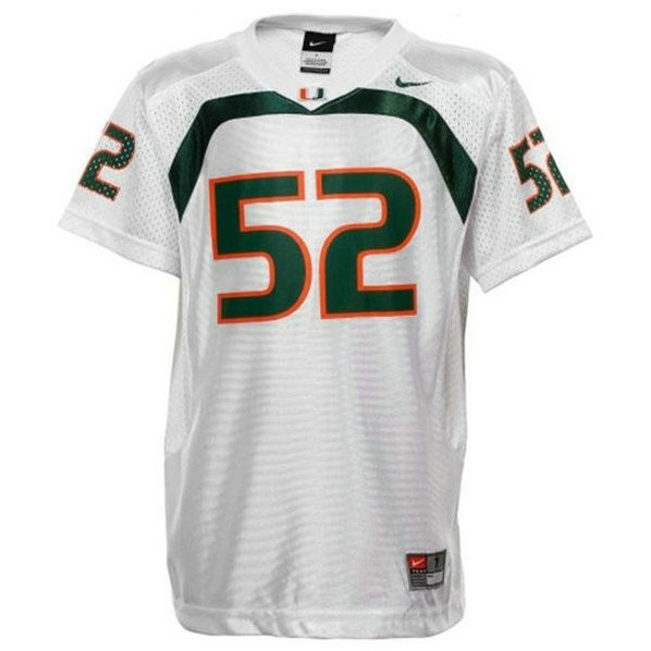 Mens Ray Lewis Miami Hurricanes #52 Game White College Football Jersey 102