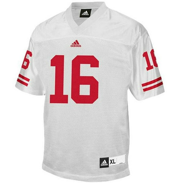 Mens Russell Wilson Wisconsin Badgers #16 Authentic White Colleage Football Jersey 102