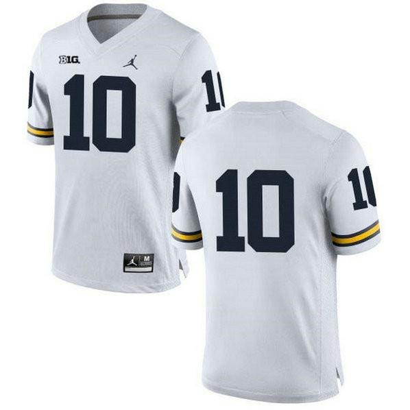 Mens Tom Brady Michigan Wolverines #10 Authentic White College ...