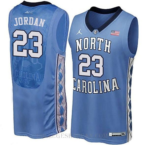 Michael Jordan North Carolina Tar Heels #23 Authentic College Basketball Womens Jersey Blue
