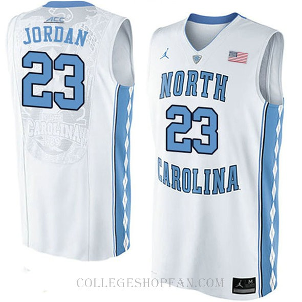Michael Jordan North Carolina Tar Heels #23 Swingman College Basketball Womens Jersey Unc White
