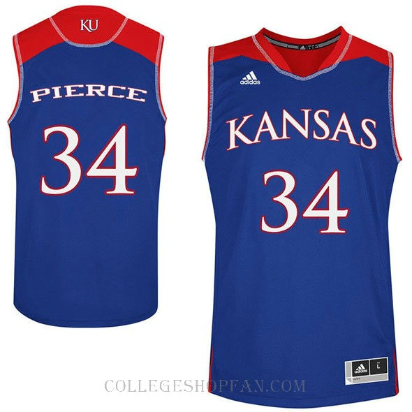 Paul Pierce Kansas Jayhawks #34 Authentic College Basketball Youth Jersey Royal