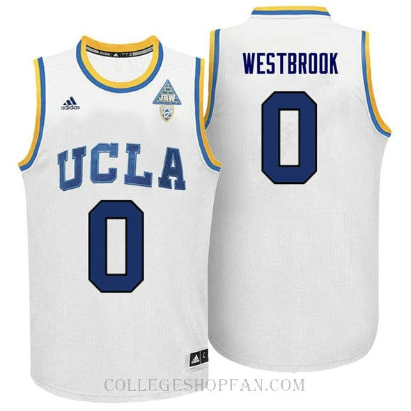 Russell Westbrook Ucla Bruins 0 Authentic Adidas College Basketball Youth Jersey White