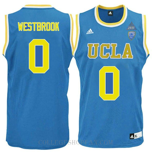 Russell Westbrook Ucla Bruins 0 Swingman Adidas College Basketball Womens Jersey Blue
