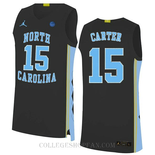 Vince Carter North Carolina Tar Heels #15 Authentic College Basketball Womens Jersey Black