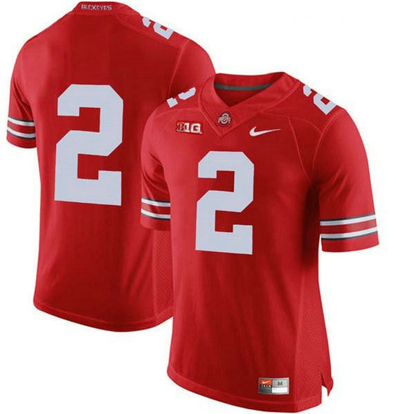 Womens Jk Dobbins Ohio State Buckeyes #2 Authentic Red College Football Jersey No Name 102