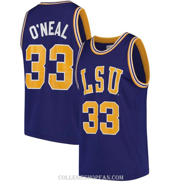 Womens Shaquille Oneal Lsu Tigers #33 Authentic Purple College Basketball Jersey