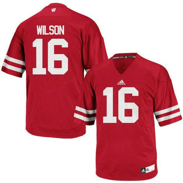 Youth Russell Wilson Wisconsin Badgers #16 Authentic Red Colleage Football Jersey 102