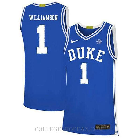 Zion Williamson Duke Blue Devils #1 Authentic College Basketball Womens Jersey Blue