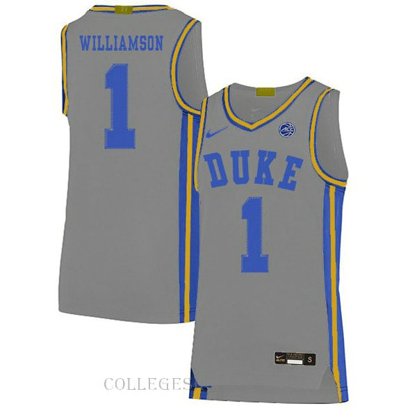 Zion Williamson Duke Blue Devils #1 Authentic College Basketball Womens Jersey Grey