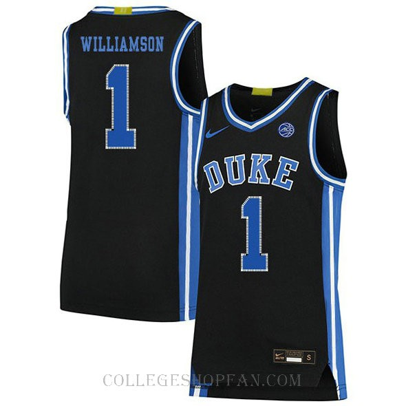 Zion Williamson Duke Blue Devils #1 Authentic College Basketball Youth Jersey Black