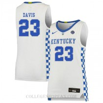 Anthony Davis Kentucky Wildcats #23 Authentic College Basketball Mens Jersey White