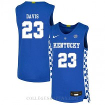 Anthony Davis Kentucky Wildcats #23 Authentic College Basketball Womens Jersey Blue