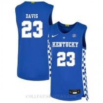 Anthony Davis Kentucky Wildcats #23 Limited College Basketball Womens Jersey Blue
