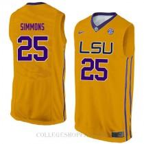 Ben Simmons Lsu Tigers #25 Swingman College Basketball Mens Jersey Gold