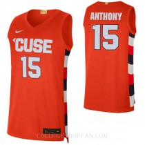 Carmelo Anthony Syracuse Orange #15 Authentic College Basketball Mens Jersey Orange