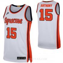 Carmelo Anthony Syracuse Orange #15 Authentic College Basketball Mens Jersey White