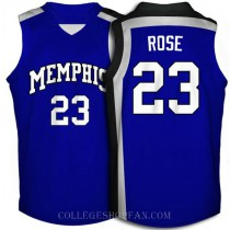 Derrick Rose Memphis Tigers #23 Authentic College Basketball Mens Jersey Blue