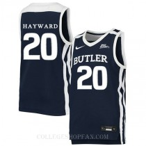 Gordon Hayward Butler Bulldogs #20 Authentic College Basketball Mens Jersey Navy