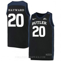 Gordon Hayward Butler Bulldogs #20 Authentic College Basketball Womens Jersey Black