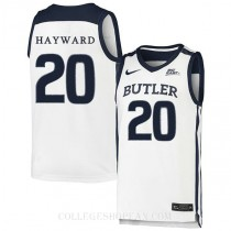 Gordon Hayward Butler Bulldogs #20 Authentic College Basketball Youth Jersey White