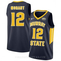Ja Morant Murray State Racers #12 Authentic College Basketball Mens Jersey Navy