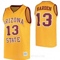 James Harden Arizona State Sun Devils #13 Authentic College Basketball Mens Jersey Gold