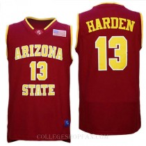 James Harden Arizona State Sun Devils #13 Authentic College Basketball Mens Jersey Red