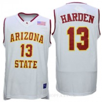James Harden Arizona State Sun Devils #13 Authentic College Basketball Youth Jersey White