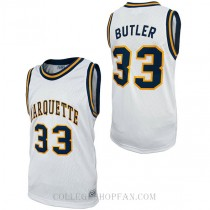 Jimmy Butler Retro Marquette #33 Authentic College Basketball Mens Jersey White