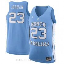 Jordan Brand Michael Jordan North Carolina Tar Heels #23 Authentic College Basketball Mens Jersey Light Blue